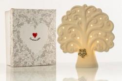 Lampada grande led in ceramica albero vita linea Simply White